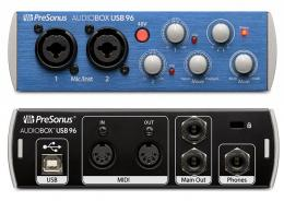 PreSonus AudioBox USB 96 аудио/MIDI интерфейс 2х2 для РС или МАС 24бит/96кГц, ПО Studio One Artist - 1
